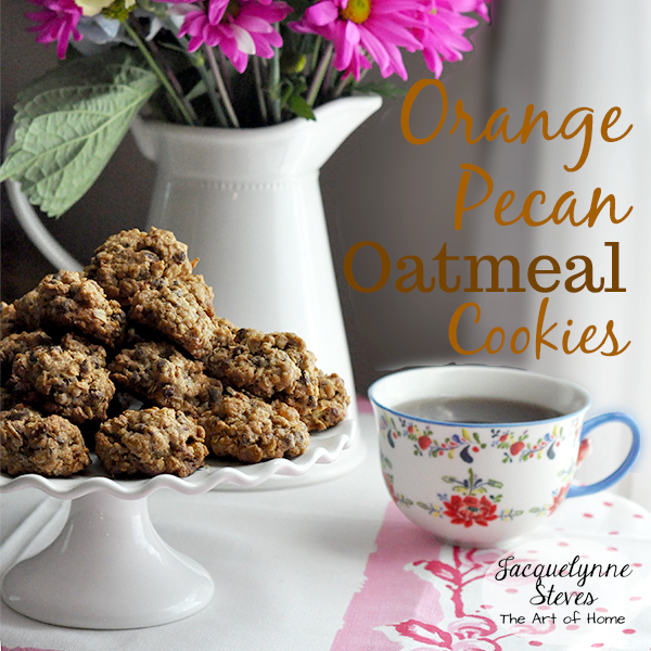 Orange Pecan Oatmeal Cookies Recipe- Jacquelynne Steves