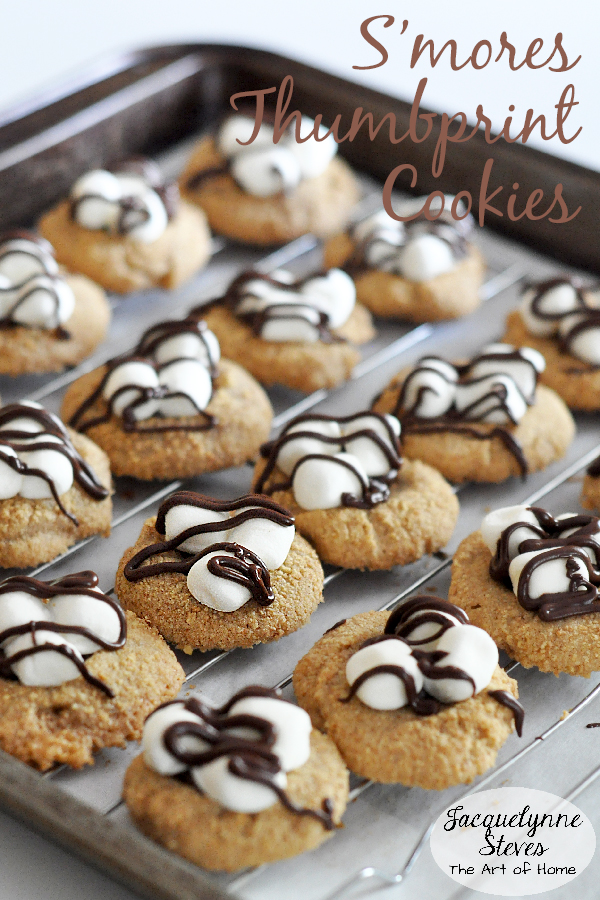 Smores Thumbprint Cookies Recipe- Jacquelynne Steves