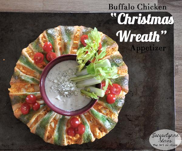 Buffalo Chicken Christmas Wreath Appetizer- Jacquelynne Steves b
