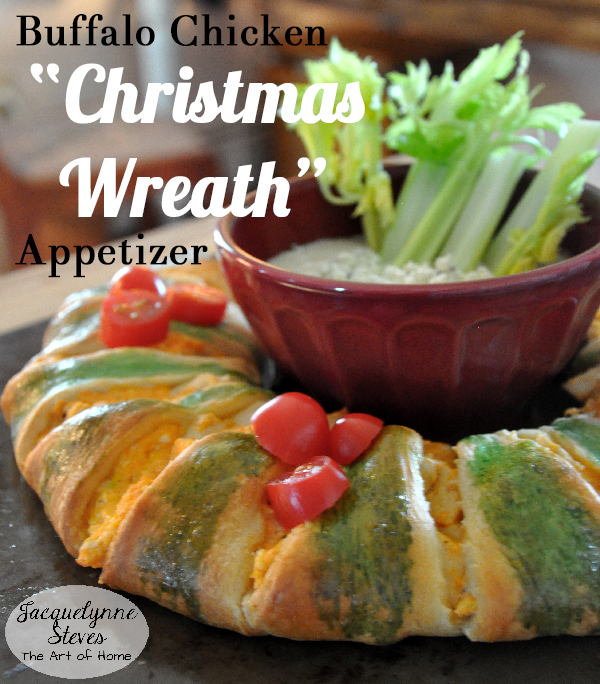 Buffalo Chicken Christmas Wreath Appetizer- Jacquelynne Steves
