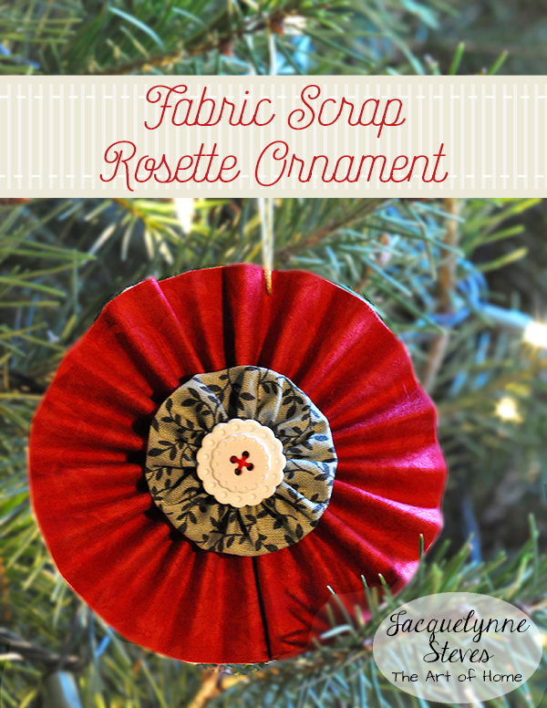 Fabric Scrap Rosette Ornaments