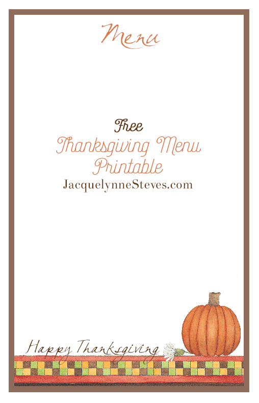 picture relating to Printable Thanksgiving Menu known as No cost Printable Thanksgiving Menu and Destination Playing cards