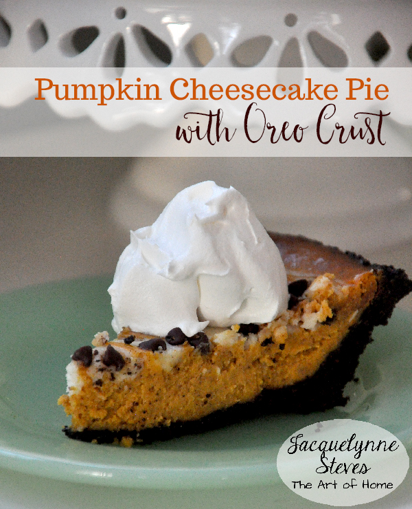 Pumpkin Cheesecake Pie with Oreo Crust- Jacquelynne Steves