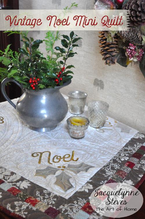 Vintage Noel Mini Quilt- Jacquelynne Steves 2