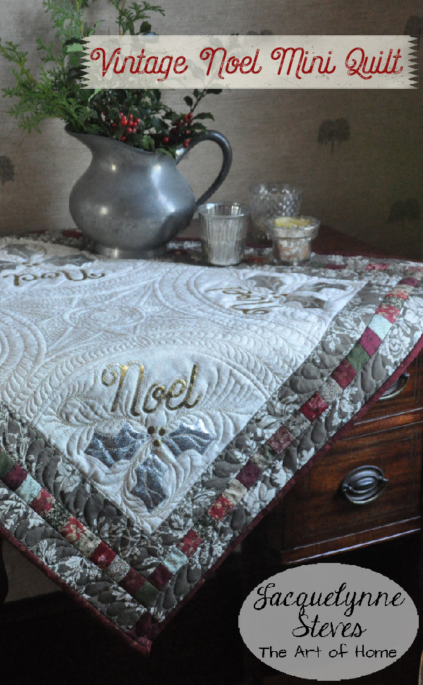 Vintage Noel Table Topper/Mini Quilt