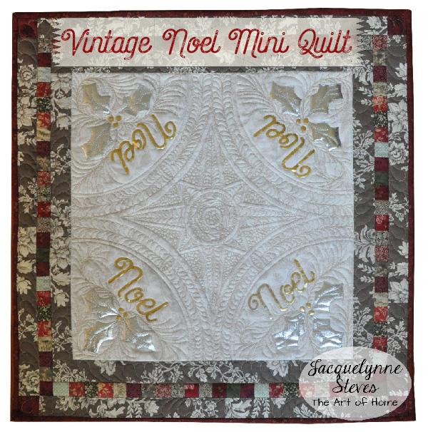 Vintage Noel Mini Quilt- Jacquelynne Steves