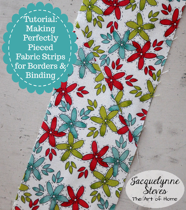 Fabric Strip Piecing Tutorial- Jacquelynne Steves