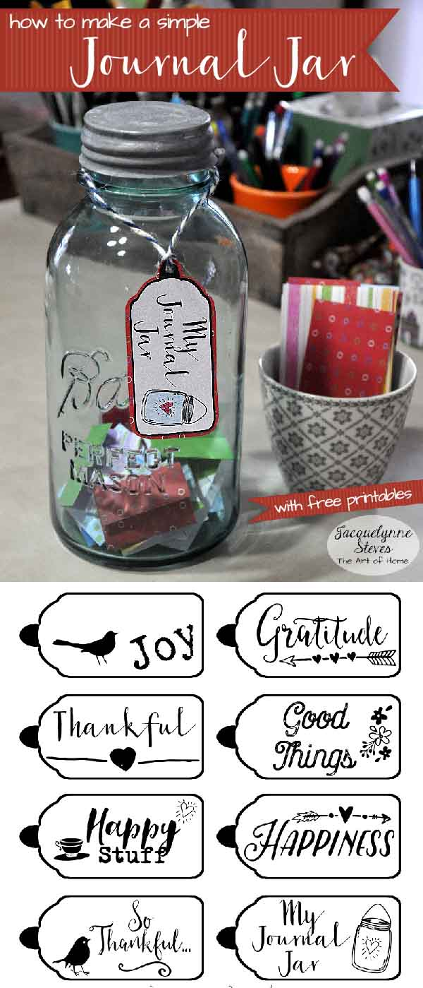 Exhilarating image with gratitude jar printable