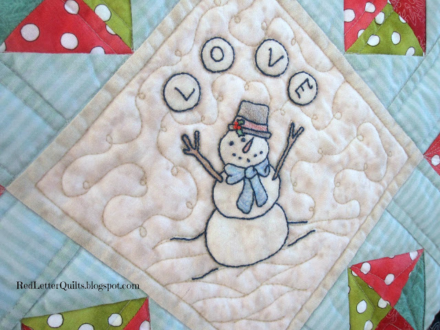 RedLetterQuilts-CozyAfternoonQuilt-Snowman Lovin