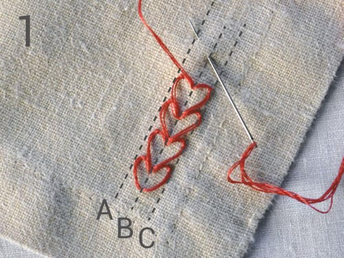Heart Embroidered Napkins