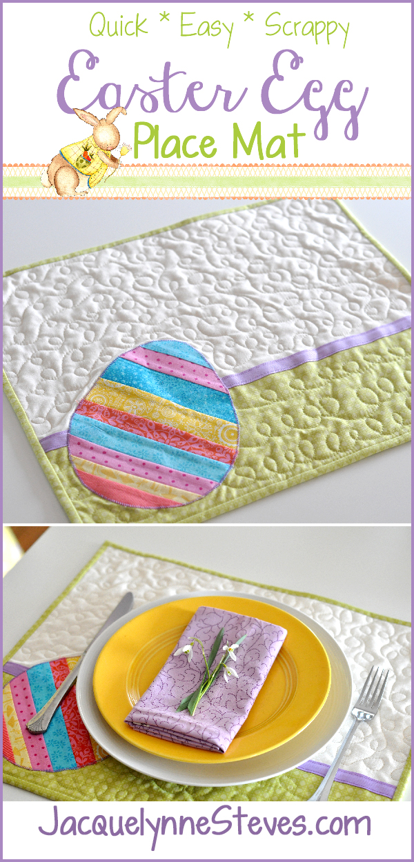 Easter Egg Place Mat Project- Quick, Easy, Scrappy!
