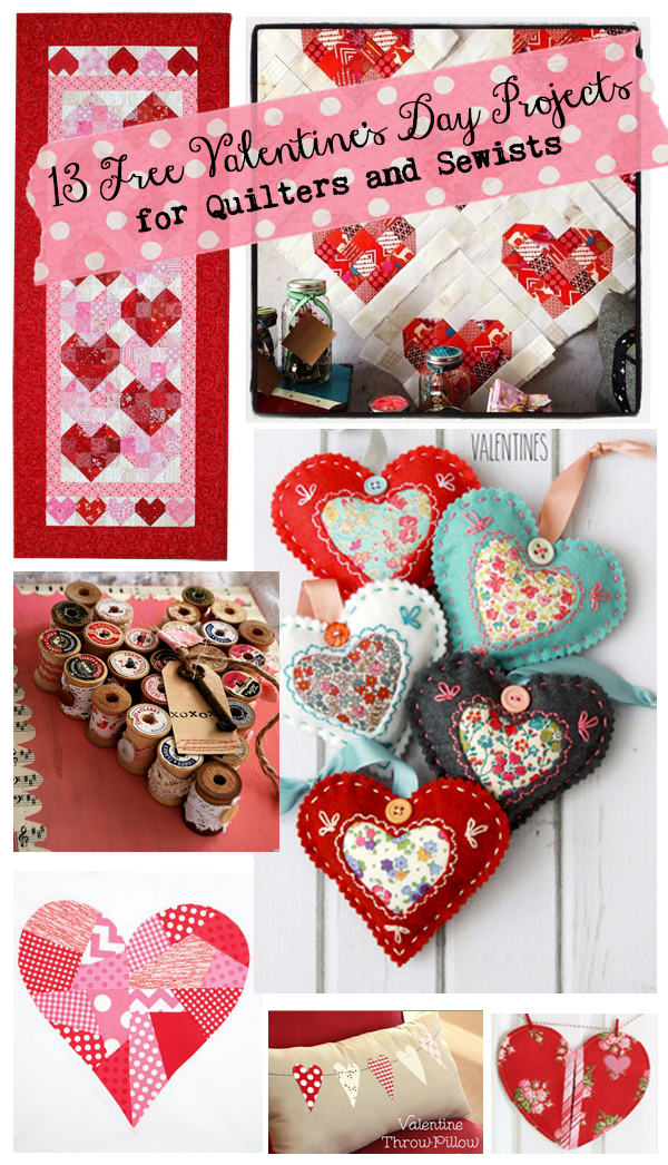 13 Free Valentine's Day Projects for Quilters & Sewists