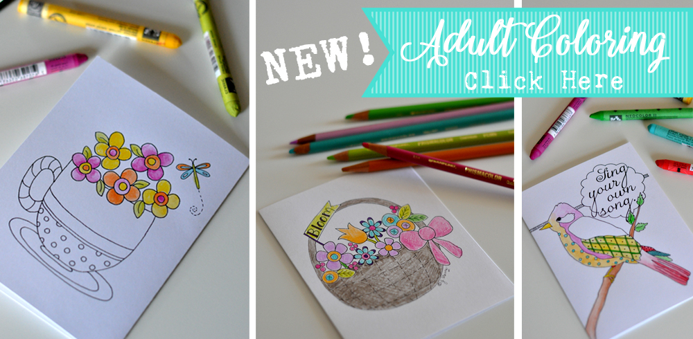 NEW! Note Cards to Color (Adult Coloring Note Cards)