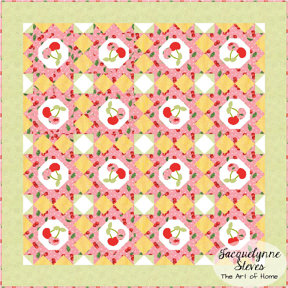 Oh Cherry Quilt-Alternate Layout-Jacquelynne Steves