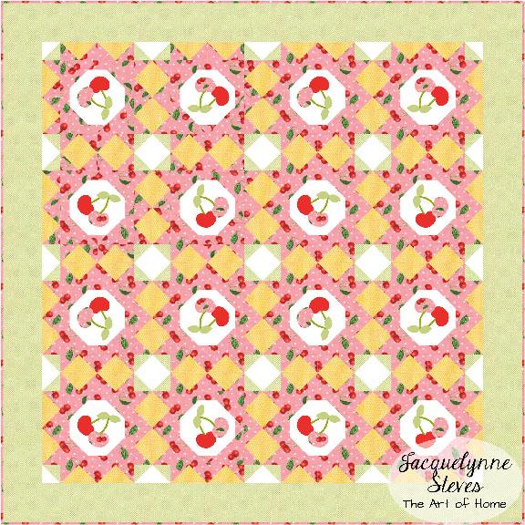 Oh Cherry Quilt-Alternate Layout-Jacquelynne Steves