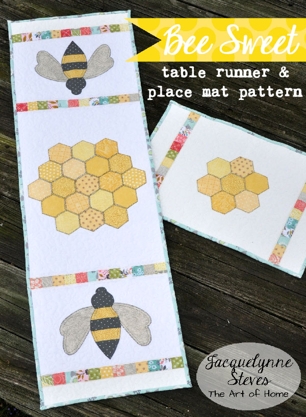 Bee Sweet Table Runner & Place Mat Pattern-JacquelynneSteves