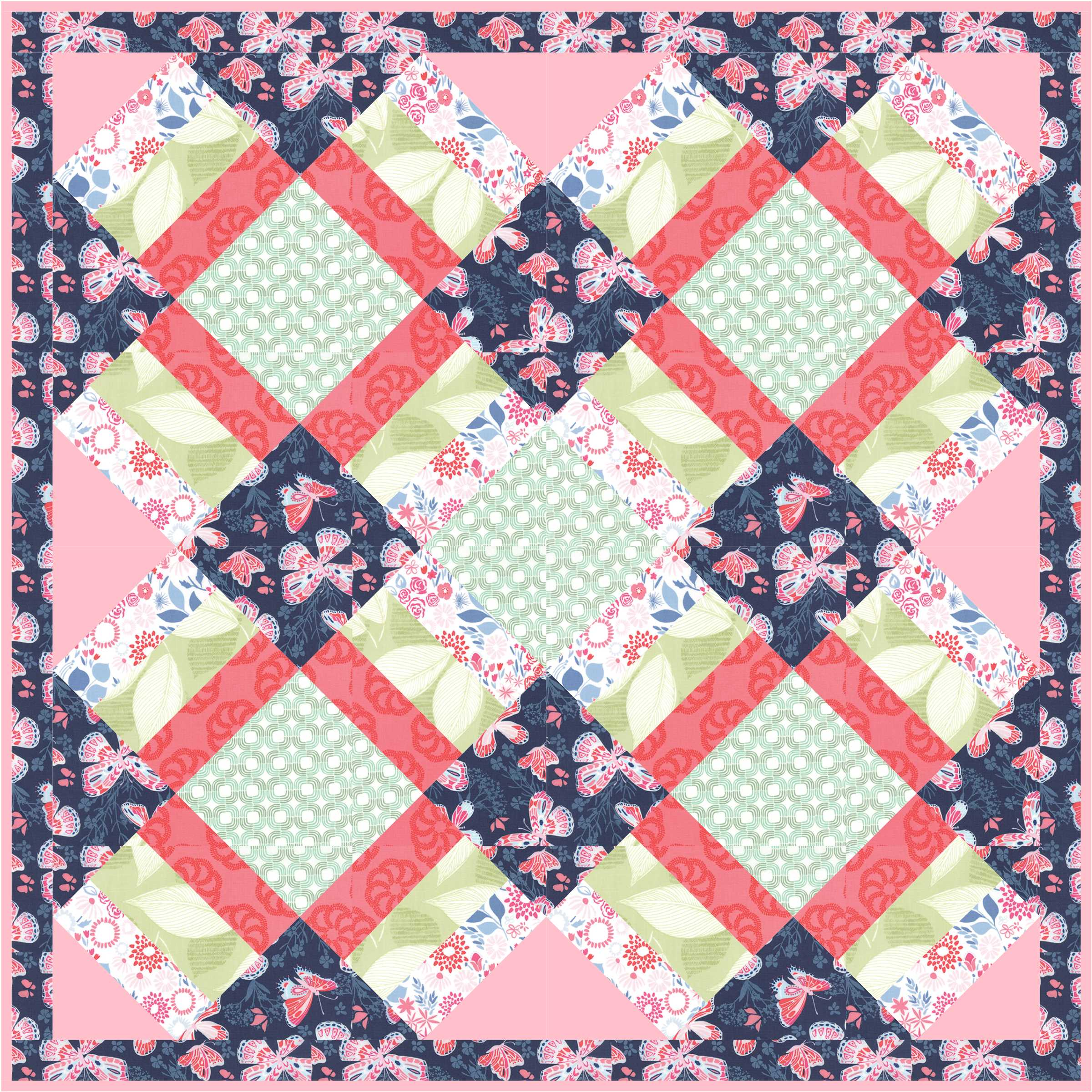 Chirp Quilt by Jacquelynne Steves- Aria fabric