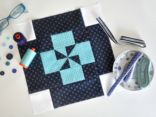 My Free Block Pattern for the Aurifil Designer of the Month Series!