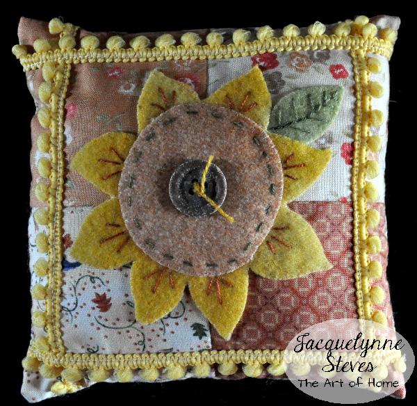 Sunflower Pincushion- Jacquelynne Steves