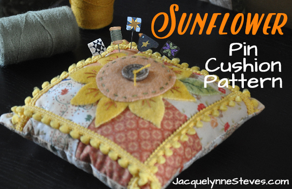 SunflowerPinCushionPattern-JacquelynneSteves
