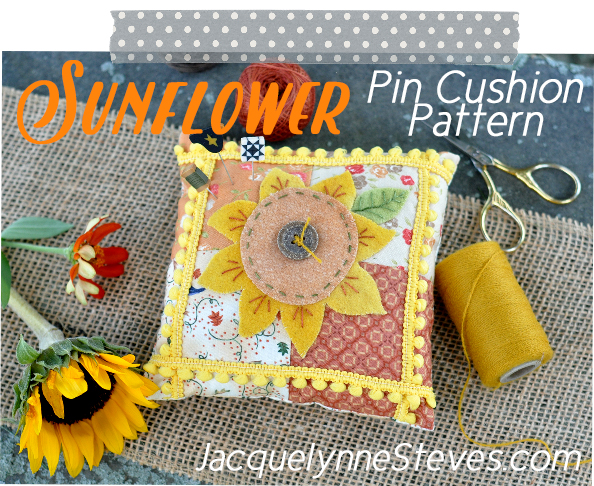 Wool Sunflower Pin Cushion Tutorial