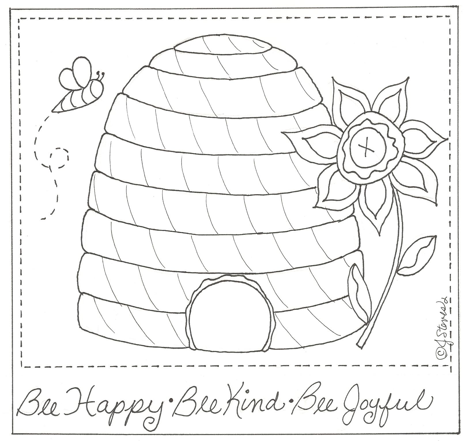 Bee Happy Stichery