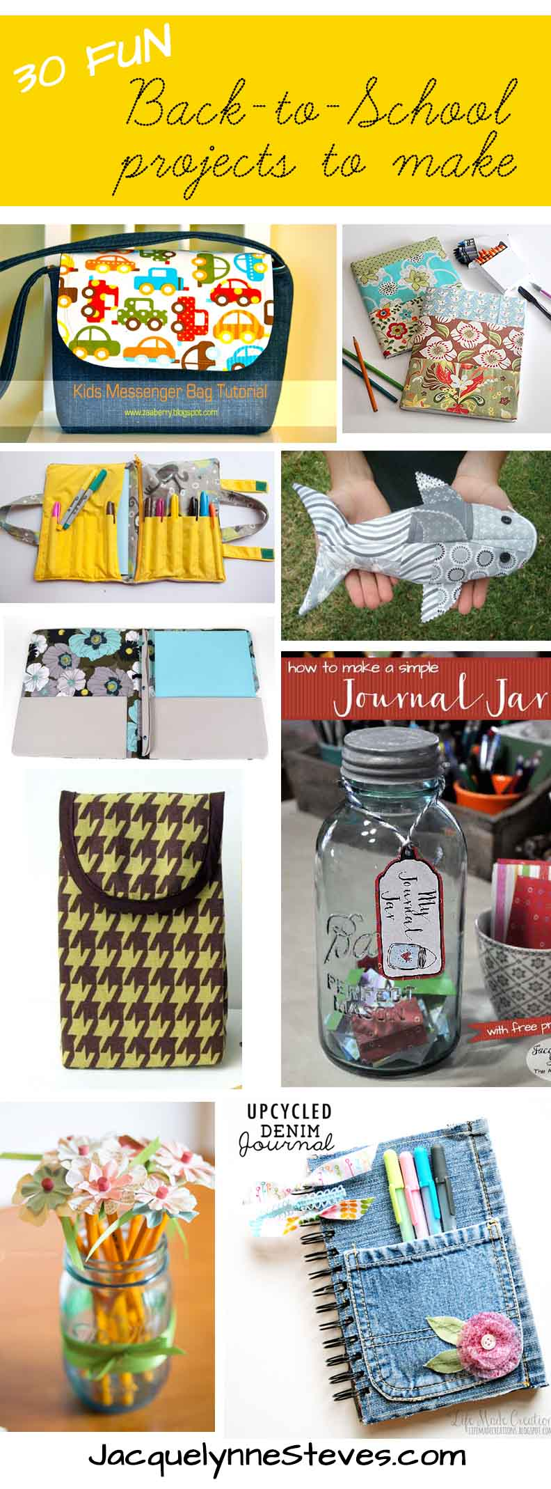 30 Fun Back-to-School Projects to make!