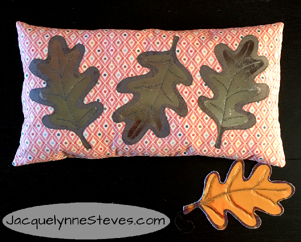 Fall Foil Leaf Pillow & Ornament Tutorial