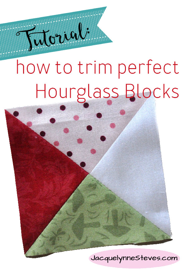 How to Trim Hourglass Blocks- tutorial