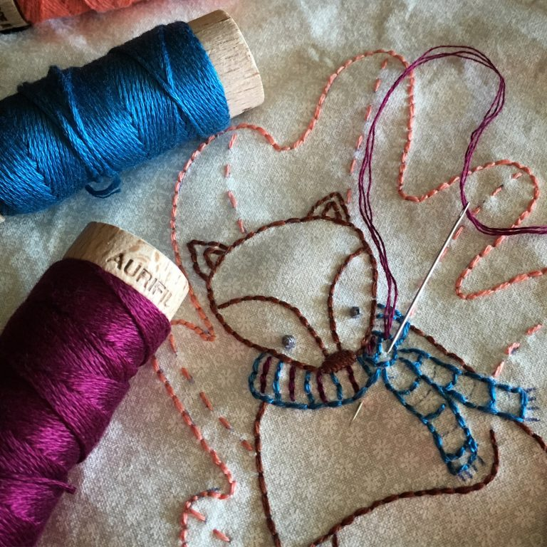 Transferring Designs & Using Interfacing for Hand Embroidery