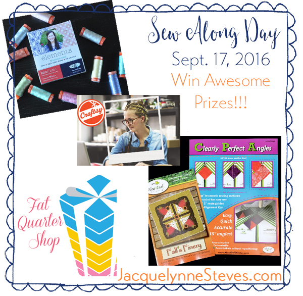 Sew Along Day Prizes- Jacquelynne Steves