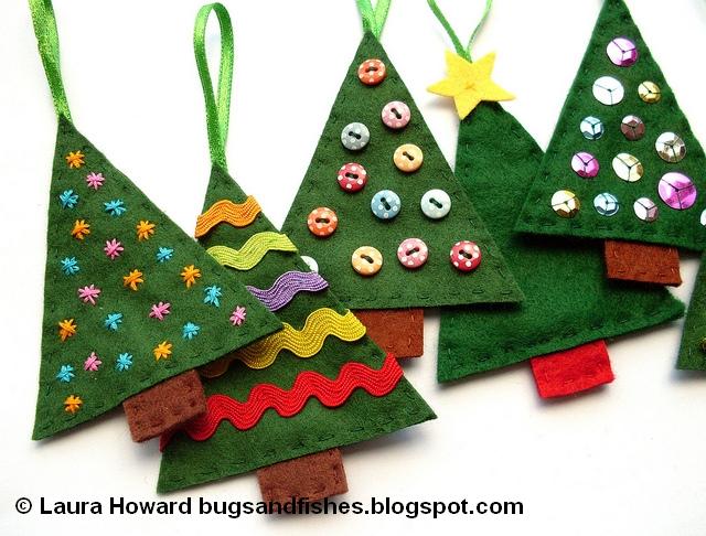 Felt Christmas Tree Ornaments Patterns.30 Super Cute Free Christmas Ornament Patterns Jacquelynne