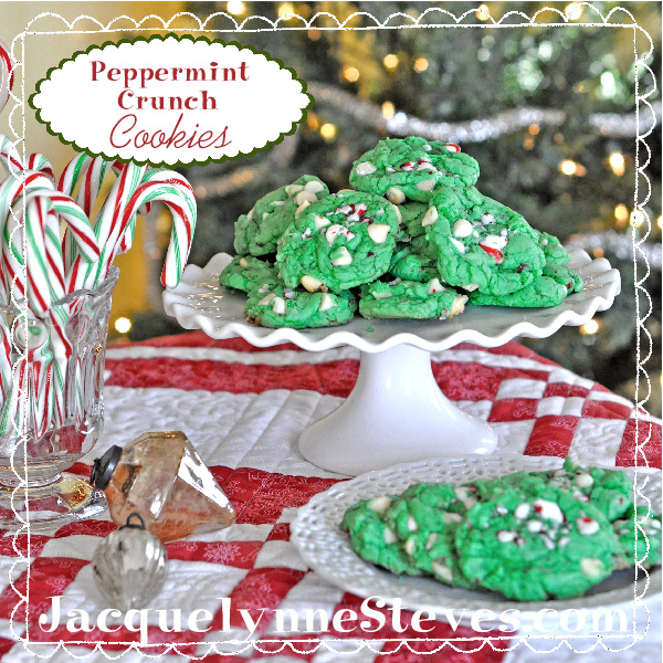 Peppermint Crunch Cookies Recipe