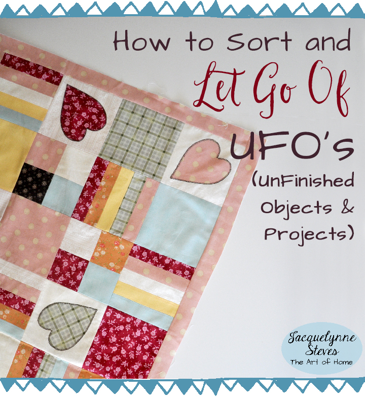 Sorting and Letting Go of UFO's (UnFinished Objects)