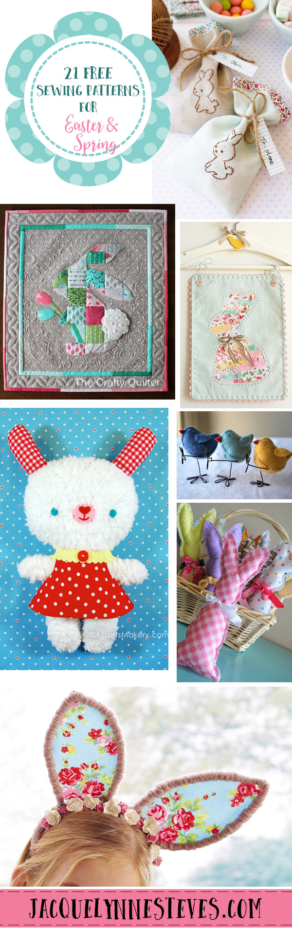 21 Free Sewing Patterns for Easter & Spring