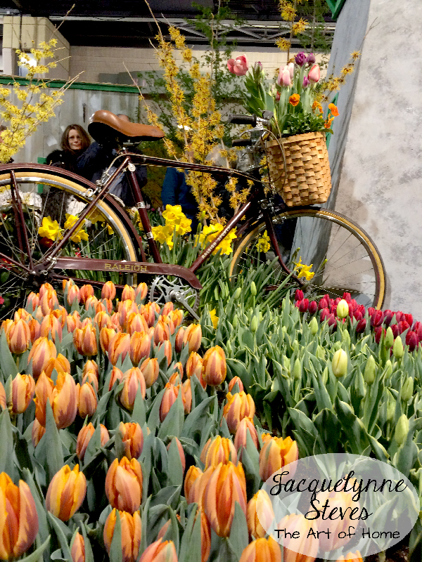 Flower Show Inspiration- Tulips and Bicycles!!