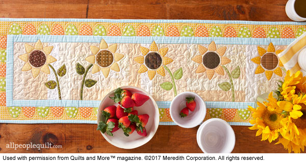 My Summer Table Runner in Quilts & More Magazine!