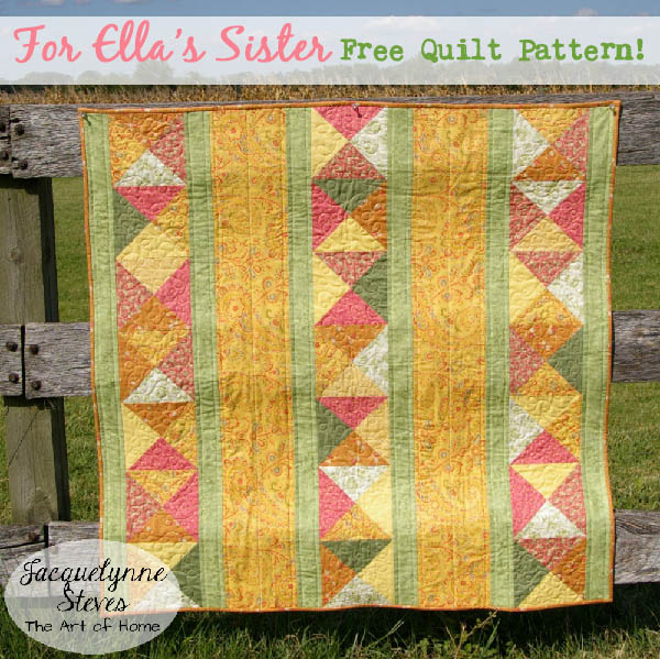 """For Ella's Sister"" Free Pattern designed by and from Jacquelynne Steves"