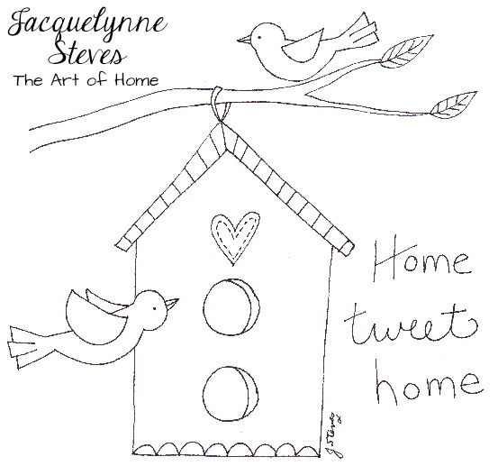 New Free Embroidery Pattern- Home Tweet Home