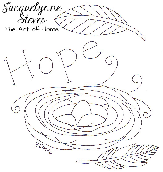 "Free Embroidery Pattern- ""Hope"""