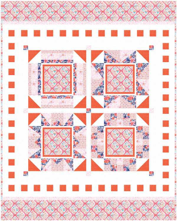 Fabric Ideas for the I Love Home Free Block of the Month