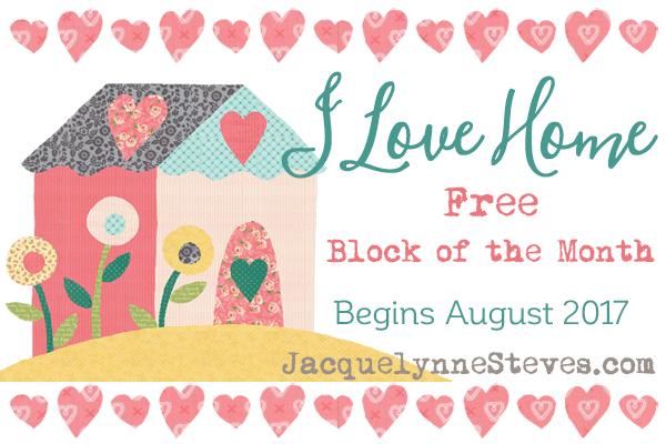Fabric Requirements for I Love Home Block of the Month