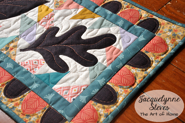 My Autumn Table Runner in Quilts & More Magazine!