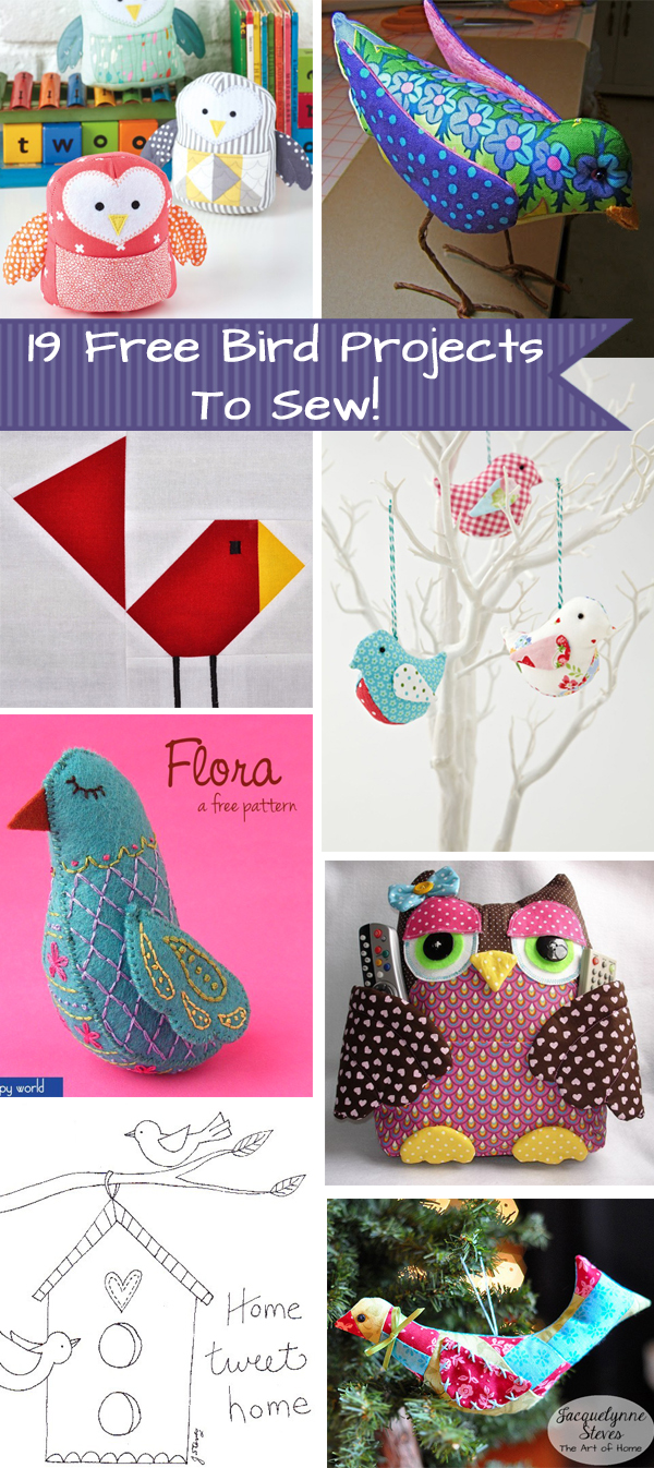 19 Free Bird Projects to Sew!