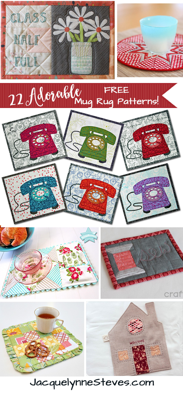 22 Adorable Free Mug Rug Patterns Jacquelynne Steves