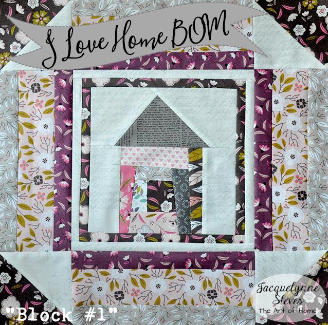 Wonky I Love Home House Block!
