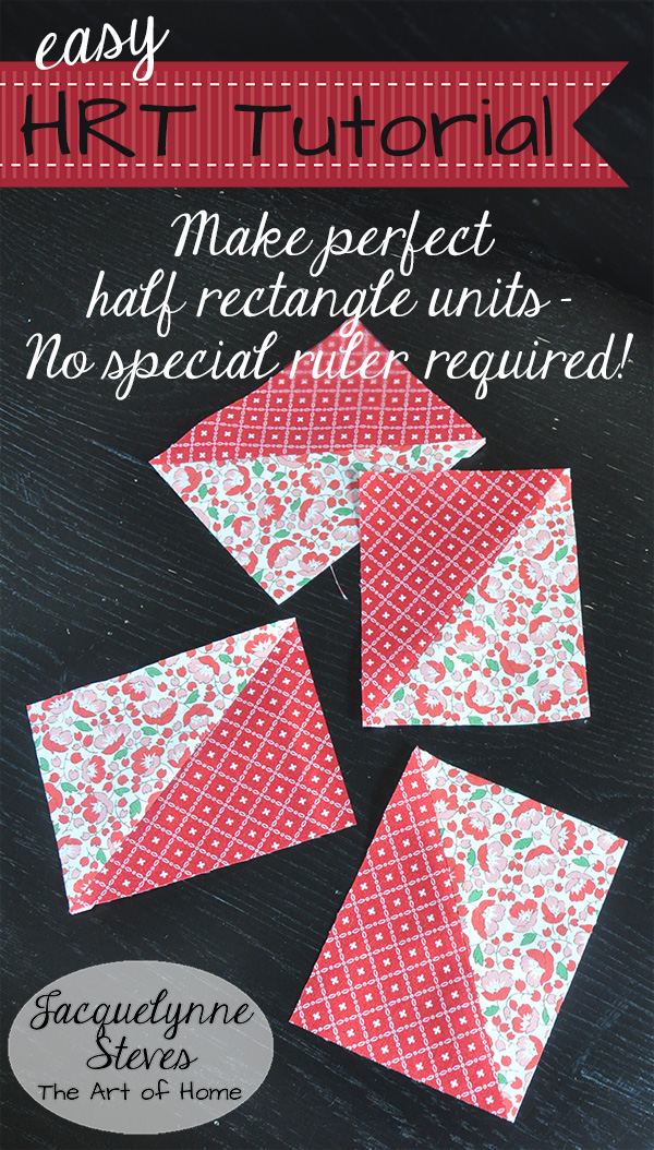 Half Rectangle Triangle Tutorial (no special ruler required!)