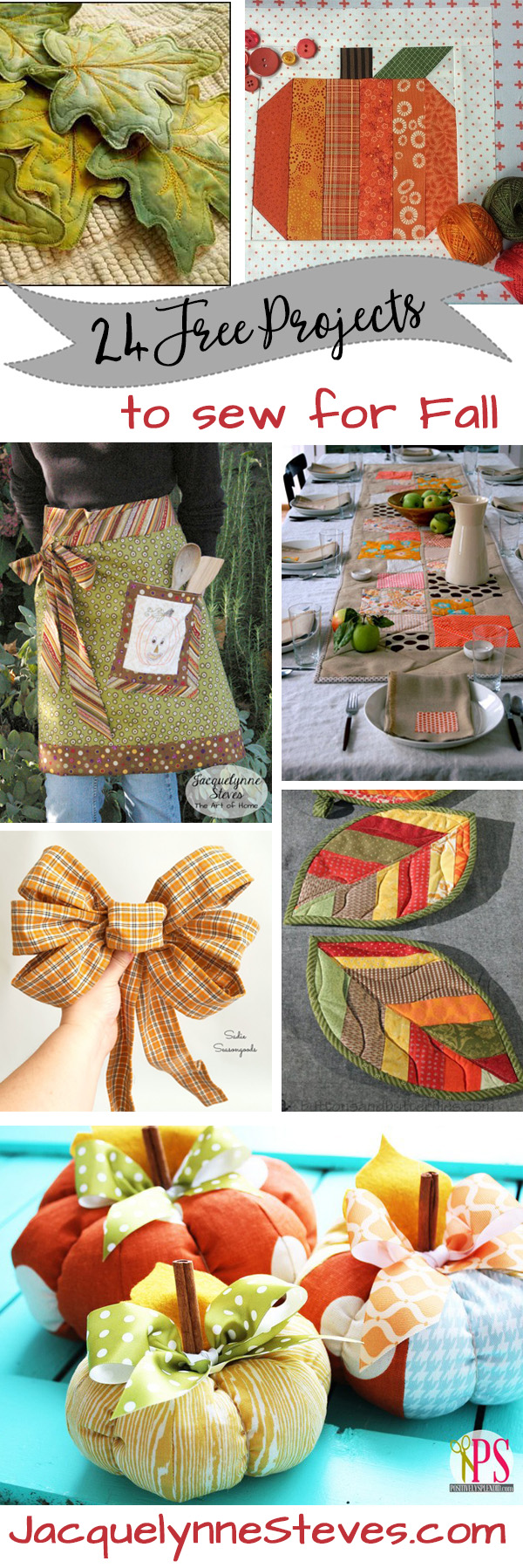 24 Free Projects to Sew for Fall
