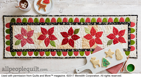 My Christmas Table Runner in Quilts & More Magazine!