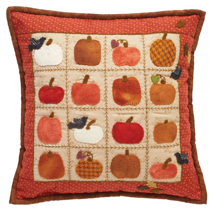 Free Pumpkin Pillow Pattern- wool applique